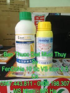 Fendona 10sc dang 500ml VS Icon 2.5 Cs dang 1 lit