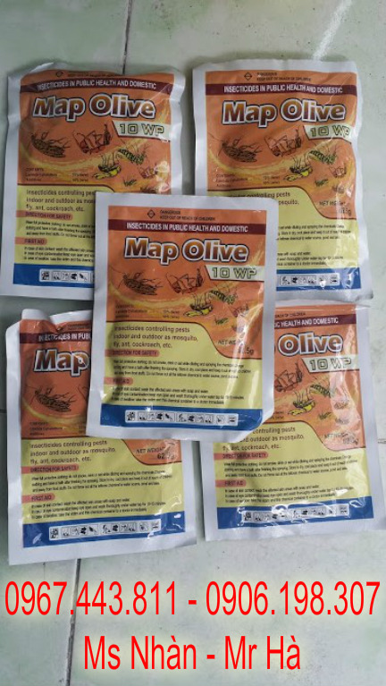 Nhan ban thuoc diet con trung Map Olive 10 WP